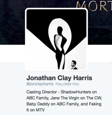 Casting Director Jonathan Clay Harris follow The IF List on Twitter to gauge fan response!