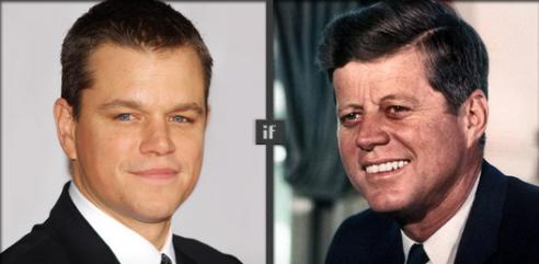 Matt Damon proposed for John F. Kennedy