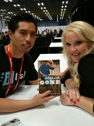 CEO and Co-Founder Benny Hung and Abbi Glines