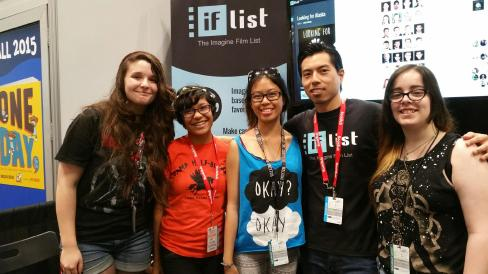 CEO and Co-Founder Benny Hung with some fans at The IF List booth