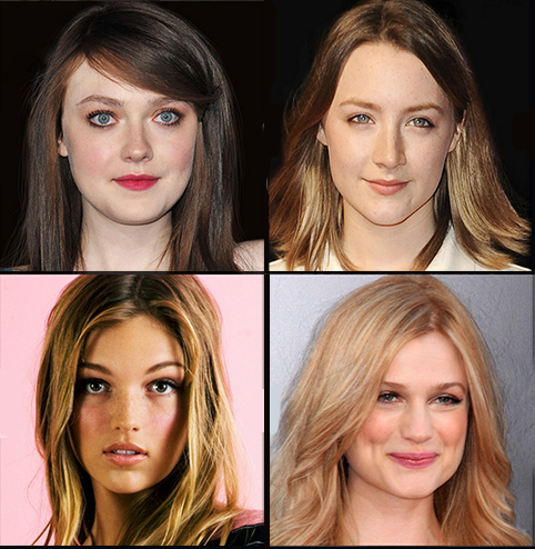 Clockwise from top: Dakota Fanning, Soiraise Ronan, Alison, Lili